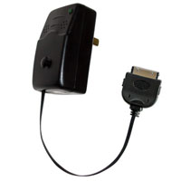 Emerge Tech Retractable iPod Wall Charger (Black) - ETIPODCHGWB - IN STOCK