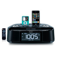 iLuv Dual Alarm Clock for iPod and iPhone (Black) - IMM173 - IN STOCK