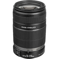 Canon 55-250mm F/4-5.6 IS Telephoto Zoom Lens - EFS55250MM - IN STOCK