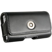 Wireless Universal Antimagnetic Horizontal Leather Pouch (Black) - ANTIMAGHSM - IN STOCK