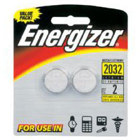 Energizer 2 Pack CR2032 Lithium Button Cell Batteries - 2032BP2 - IN STOCK
