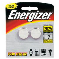 Energizer 2 Pack CR2025 Lithium Button Cell Batteries - 2025BP2 - IN STOCK