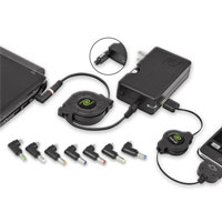 Emerge Tech Retractable universal charger for netbooks - ETCHGNETB - IN STOCK