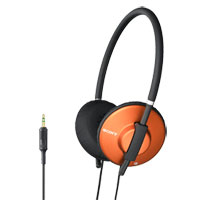 Sony Lightweight Fashion Headphones (Orange) - MDR-570LP/ORG / MDR570LPORG - IN STOCK