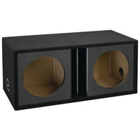 Atrend 15 in. Dual Subwoofer Vented Enclosure - 15DVRCF - IN STOCK