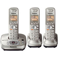 Panasonic DECT 6.0 PLUS Expandable Digital Cordless Answering System with 3 Handsets - KX-TG4023N / KXTG4023 - IN STOCK