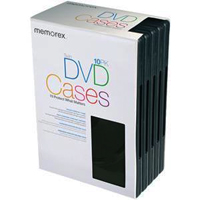 Memorex DVD/VIDEO GAMES Storage Cases 10 Pack - EMPTYDVDCASE - IN STOCK