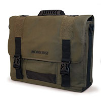 Mobile Edge 17.3 in. Eco-friendly Canvas Messenger Bag (Green) - MECME9 - IN STOCK
