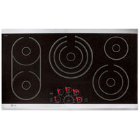 LG LCE3681ST 36� Stainless 5 Burner Electric Cooktop - LCE3681ST - IN STOCK