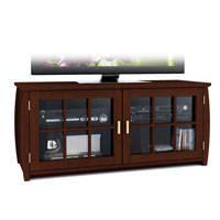 Corporate Images 32 in.-52 in. Espresso Wood TV Stand - WB-1489 / WB1489 - IN STOCK