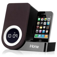 iHome Rotating Alarm Clock for iPhone & iPod - IP41BVD - IN STOCK