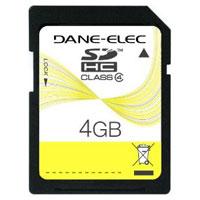 Dane-Elec 4 GB SDHC Flash Memory Card - DA-SD-4096-R / DASD4096R - IN STOCK