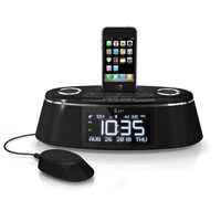 iLuv Dual Alarm Clock w/Bed Speaker Shaker for iPhone - IMM178 - IN STOCK