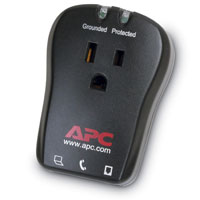 APC Single outlet travel surge protector with phone line protection - P1T - IN STOCK