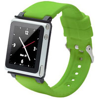 iWatchz Wristwatch strap for 6th Gen iPod nano (Green) - CLRCHR22GRN - IN STOCK