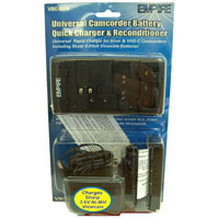 Empire Universal Camcorder Battery Quick Charger and Reconditioner - VBC-3UN / VBC3UN - IN STOCK