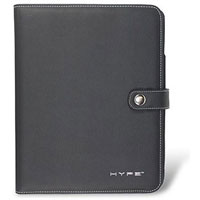 Hype Black Leather Bluetooth Keyboard Folio for iPad - HY-1020-BT / HY1020BT - IN STOCK