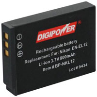 Digipower Replacment Battery Nikon EN-EL12 - BP-NKL12 / BPNKL12 - IN STOCK