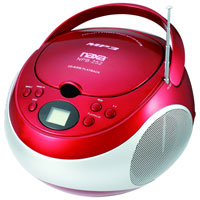 Naxa Portable MP3/CD Player with AM/FM Stereo Radio - NPB-252RED / NPB252RED - IN STOCK