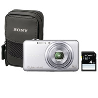 Sony Cyber-Shot 16.2 Megapixel Digital Camera Bundle (Silver) - DSC-WX70/SBDL / DSCWX70SBDL - IN STOCK