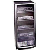 Techcraft Four Shelf Home Audio Stand w/ Smoked Glass Door - SF50 - IN STOCK