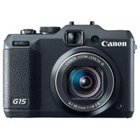 Canon PowerShot 12.0 Megapixel Digital Camera (Black) - PowerShot G15 / 6350B001 / G15 - IN STOCK