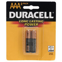 Duracell AAA Alkaline Batteries (Pair) - MN2400B2 - IN STOCK