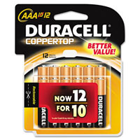 Duracell AAA Alkaline Batteries (12 Pack) - MN24RT12 - IN STOCK