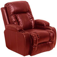 Catnapper Top Gun Red Leather Recliner - 44274120314 - IN STOCK
