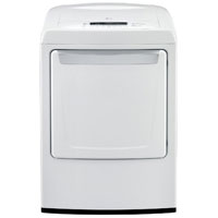 LG DLE1101W Electric 7.3 Cu. Ft. White High Efficiency European Design Top Load Dryer - DLE1101W - IN STOCK