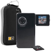 Lifeworks ColorPix 5.0-Megapixel Camcorder Bundle (Black) - LW-DVK300B / LWDVK300B - IN STOCK