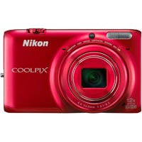Nikon COOLPIX 16.0 Megapixel Digital Camera (Red) - S6500RD - IN STOCK