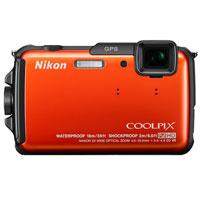 Nikon COOLPIX 16 Megapixel Digital Camera (Orange) - AW110OR - IN STOCK