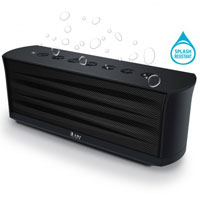 iLuv Rechargeable Splash-resistant Stereo Bluetooth Speaker with Jump-Start Technology - ISP233BLK - IN STOCK