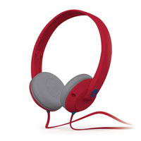 Skull Candy Uprock Athletic Red Headphones (Red/White) - SGURFZ083 - IN STOCK