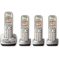 Panasonic Expandable Digital Cordless Answering System with 4 Handsets - KX-TG4224N / KXTG4224 - IN STOCK