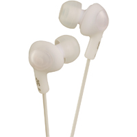 JVC Gumy Plus Inner Ear Headphones (White) - HA-FX5-W / HAFX5W - IN STOCK