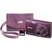 Nikon CoolPix 16 Megapixel, 6x Optical Zoom, Digital Camera Bundle - S5200PPKIT - IN STOCK