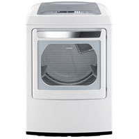LG DLEY1201W Electric 7.3 Cu. Ft. White High Efficiency European Design Top Load Dryer - DLEY1201W - IN STOCK