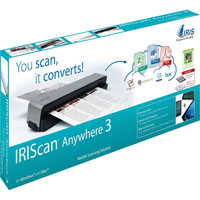 IRIS IRISCan Anywhere 3 Cordless Full Page Scanner - 457485 - IN STOCK