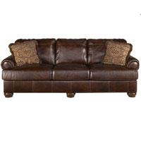 Ashley Signature Design 4200038 Axiom Walnut Leather Sofa - 4200038 / 4200038 - IN STOCK