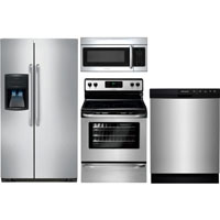 Frigidaire 4 Pc. Stainless Side-by-side Kitchen Package - FRIGKITSTSC - IN STOCK