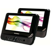 Sylvania 7 in. Dual Screen Portable DVD Player - SDVD8716 - IN STOCK