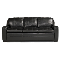 Ashley Signature Design Novack Onyx Leather Sofa - 4170138 - IN STOCK