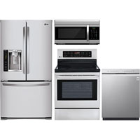 LG 4 Pc. Stainless French Door Kitchen Package - LGSTS25CFKIT - IN STOCK