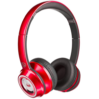 Monster NCredible NTune On-Ear Headphones - Candy Red - 128506 / MHNTUONCRD - IN STOCK