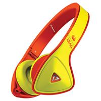Monster DNA On-Ear Headphones - Yellow on Neon Orange - MHDNAONYEOR - IN STOCK