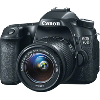 Canon EOS 70D 20.2 MP DSLR W/ EF-S 18-55mm IS STM Kit Lens - EOS 70D / 8469B009 / EOS70DKIT - IN STOCK