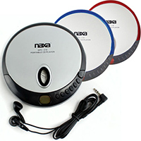 Naxa Slim Personal Compact Disc Player - Player colors may vary - NPC319 - IN STOCK