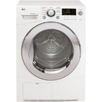 LG DLEC855W Electric 4.2 Cu. Ft. White Front Load Condensing Dryer - DLEC855W - IN STOCK